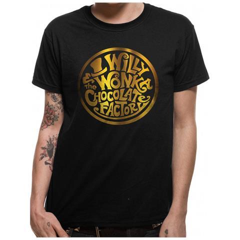 CID Willy Wonka - Gold Foil Logo (T-Shirt Unisex Tg. L)