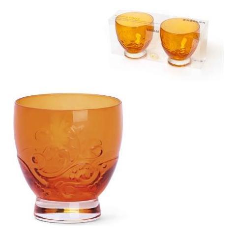 EXCELSA Ktn 2 Bicchieri Santa Cruz Arancio Cl. 30