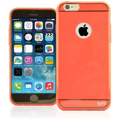 FONEX Inv Cover Ultra Sottile 0,2 mm in Morbido TPU per iPhone 6/6S Colore Rosso Trasparente