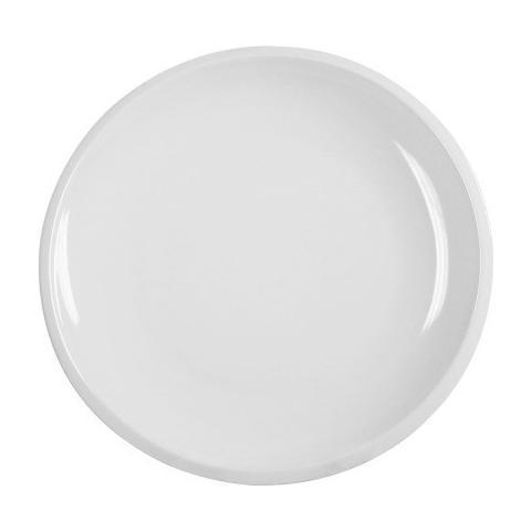 Toninelli Style Bianco-piatto Piano Cm. 25 In Porcellana