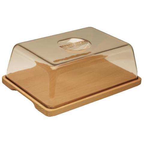 Portaformaggio con vassoio in legno