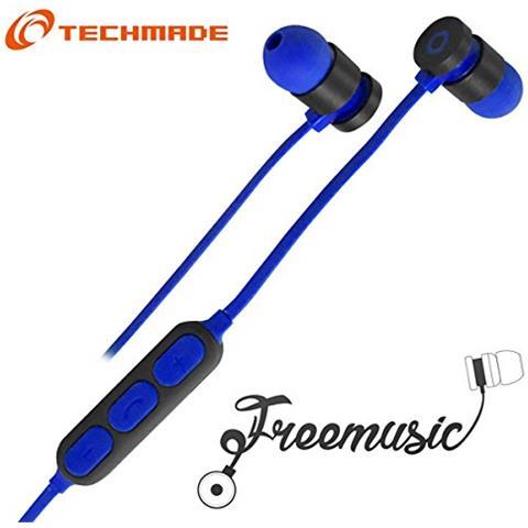 Techmade TM-FRMUSIC-DB Techmade Auricolari Bluetooth Dark Blu