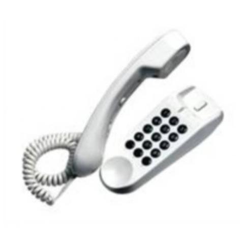 SAIET Telefono Bistandard da Tavolo e Parete - Mini Bianco