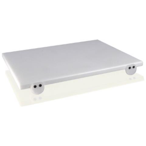 Taglieri In Polietilene Bianco 60x40x2 Con Fermi