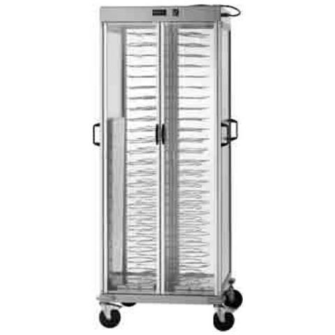 Carrello portapiatti armadiato riscaldato - Capacità 88 piatti Ø 18/23