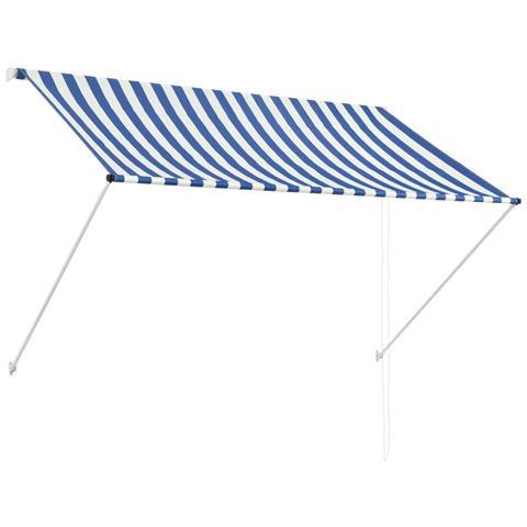 Tenda Da Sole Retrattile 200x150 Cm Blu E Bianco