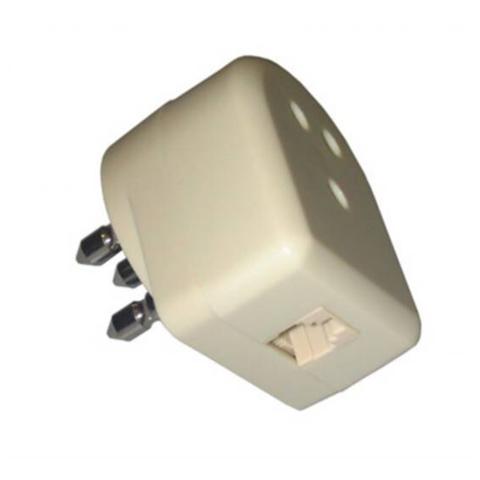 DIGITUS Adattatore Telefonico Con Spina Tripolare Passante Maschio / Femmina E Presa Telefonica 6 Poli