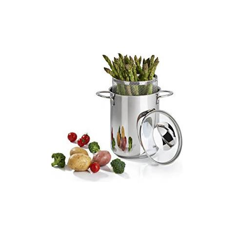Barazzoni Pentola cuoci asparagi e verdure aspargera inox 18/10