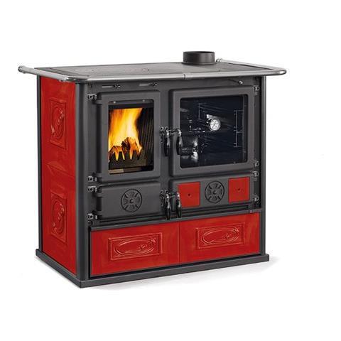 Cucina a Legna ROSA 4.0 MAIOLICA Potenza Termica Nominale 8,4 kW 240 m3 Riscaldabili Color...