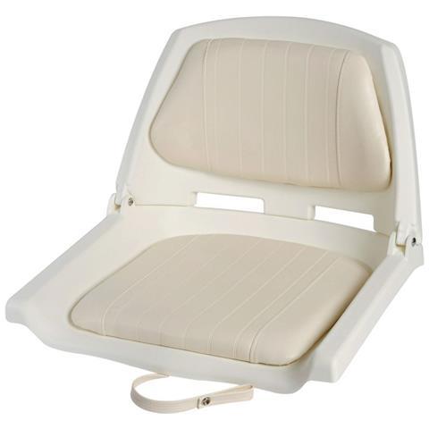Sedile In Polietilene Bianco Con Schienale Ribaltabile - Seduta 500x430mm #os4840500