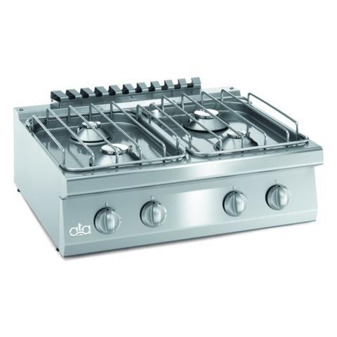 Cucina Piano Cottura Gas Banco 4 Fuochi Cm 80x70x25 Rs3615