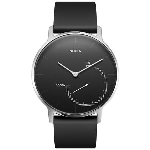 "NOKIA Smartwatch Activia Steel Impermeabile 5ATM Display 1.3"" con Bluetooth Colore Nero - Italia"