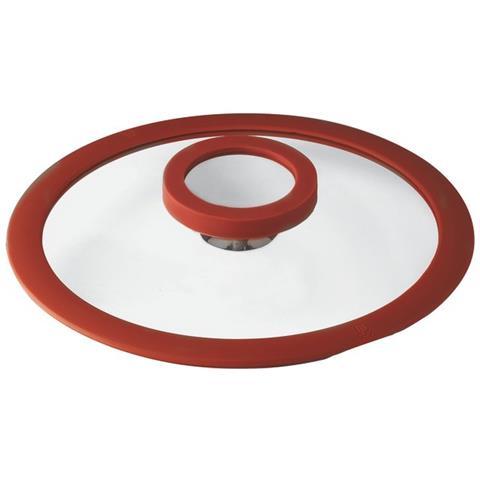 Coperchio Cm 20 12 O'clock Red Silicone, Vetro