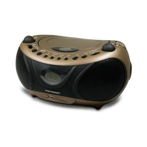 METRONIC 477106, Analogico, AM, FM, Lettore, CD, CD-R, CD-RW, 2W, LCD