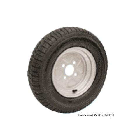 Ruote pneumatiche carrelli alta velocità 4,5/10''