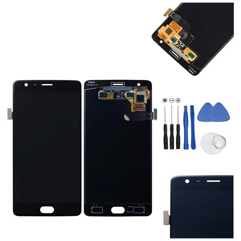 Image of Lcd Display + Touch Screen Schermo Unit Nero Per Oneplus One 3 + Kit