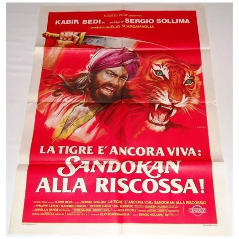 Vendilosubito Manifesto A4 Originale Del Film Sandokan Alla Riscossa 1977