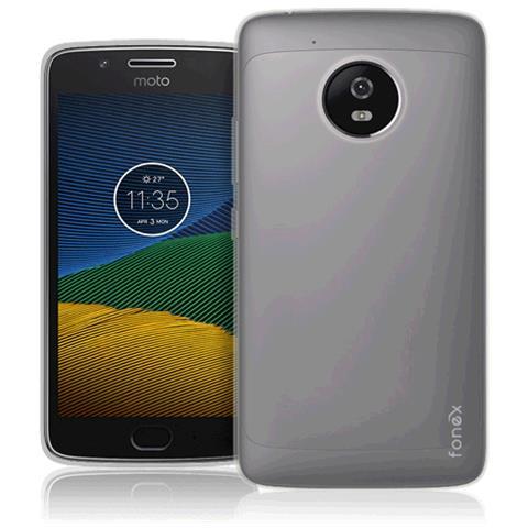 FONEX Pixel Cover Anti Urto 0,4 mm di Spessore in Morbido TPU per Motorola Moto G5 Colore Trasparente