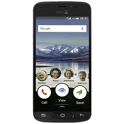 """Doro 8040 Grigio 16 GB 4G / LTE Display 5"""" HD Slot Micro SD Fotocamera 8 Mpx Android Tim Italia"""