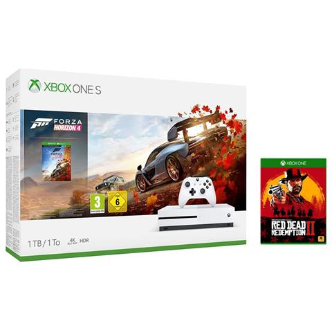 Image of Console Xbox One S 1 TB + Forza Horizon 4 + Red Dead Redemption 2 Limited Bundle