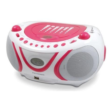 METRONIC 477109, Analogico, AM, FM, Lettore, CD, CD-R, CD-RW, 2W, LCD