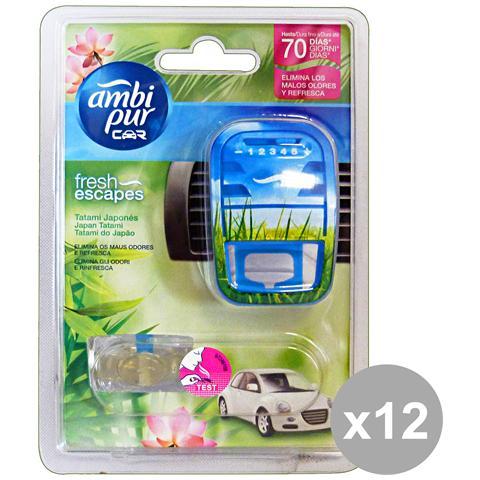 Ambi Pur Set 12 Auto Base Japan Tatami Deodorante Accessori Auto E Moto