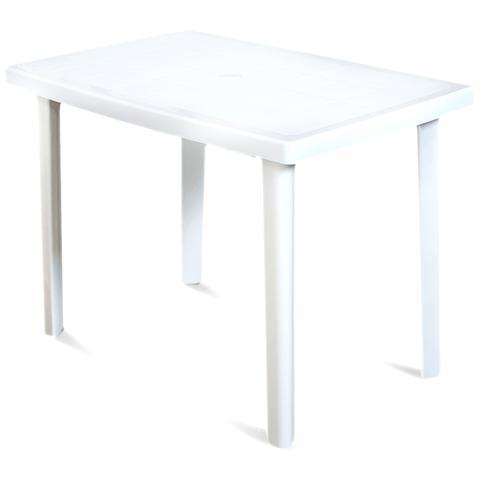 Tavolo Esterno Resina L100xp67xh72cm Bianco Marte
