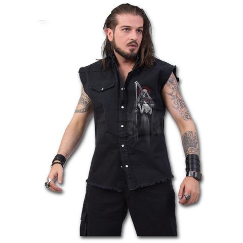 SPIRAL Dead Kiss - Stone Washed Black (Camicia Smanicata Unisex Tg. XL)
