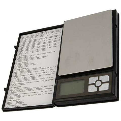 Bilancia Elettronica Pieghevole Notebook 11085 500g X 0.1g Tascabile 90x115mm
