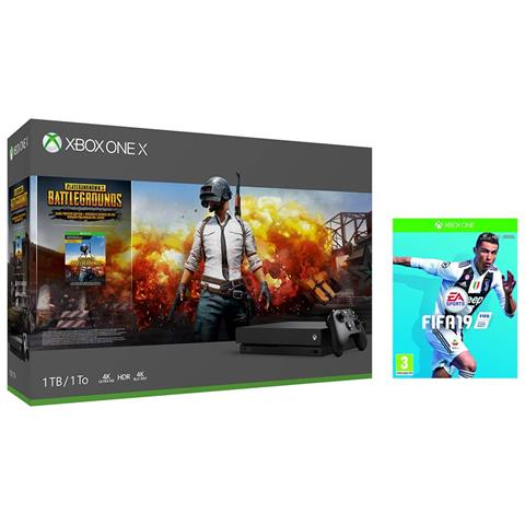 Image of Console Xbox One X 1TB + PlayerUnknown's Battlegrounds + FIFA 19 Limited Bundle