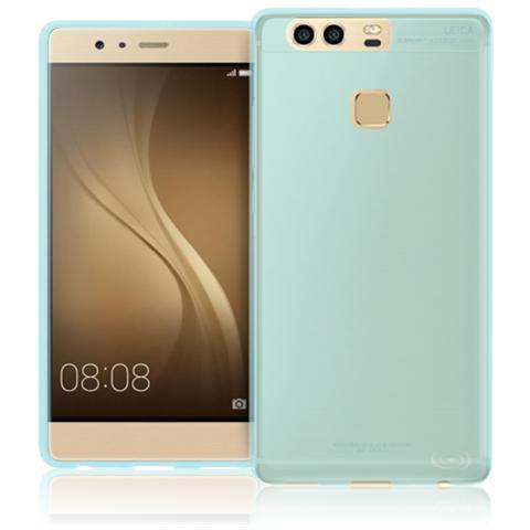 FONEX Inv Cover Ultra Sottile 0,2 mm in Morbido TPU per Huawei P9 Colore Blu Trasparente