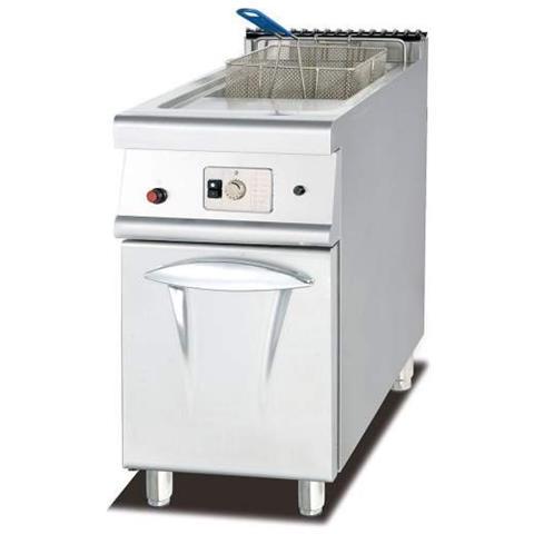 Friggitrice Inox Professionale A Una Vasca 28 Litri Lt A Gas Per Bar 40x70x94 Cm