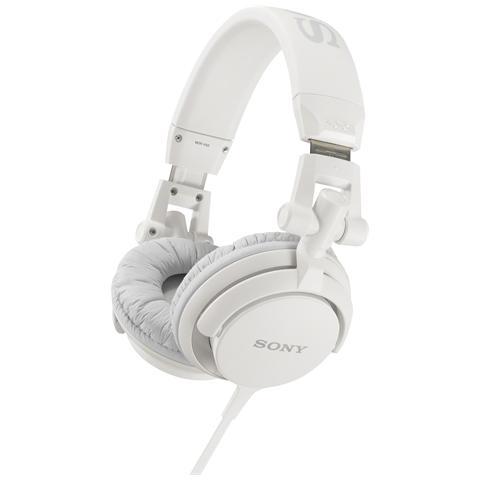 SONY Cuffia DJ con Padiglione Rotante Colore Bianco