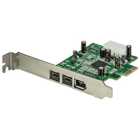 Scheda adattatore PCI Express FireWire 2b 1a 1394 a 3 porte