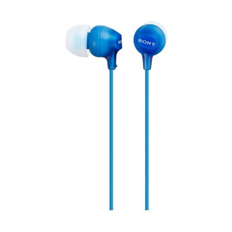 Sony Auricolari con Microfono Cablato MDR-EX15AP Colore Azzurro
