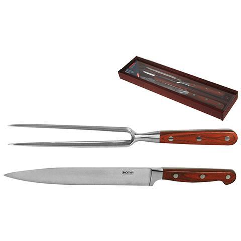Home Professional Set Coltello / forchetta Manico Legno Posate