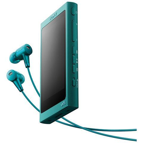 SONY Lettore MP3 16GB con Cuffie Blu