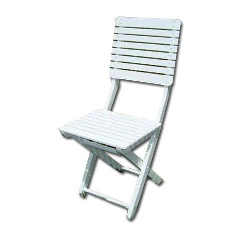 Sedia in legno pieghevole bianca confezione da 2 PZ