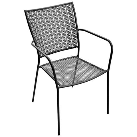 Sedia in Ferro Colore Antracite - Modello Laveno