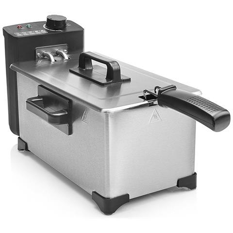 Friggitrice FR-6945 Capacità 3 Litri 2000 Watt Colore Acciaio Inox / Nero