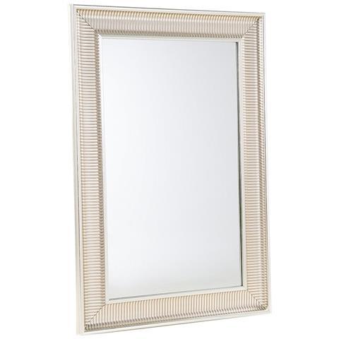 Beliani - Specchio Moderno Da Parete Con Cornice Dorata - 60x90cm ...