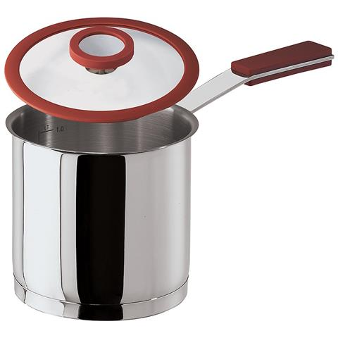 Bollitore Latte Cm 12 C / cop 12 O'clock Red Inox