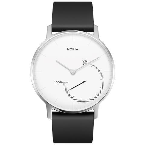 "NOKIA Smartwatch Active Steel Resistente all'acqua IP68 Display 1.3"" con Bluetooth Nero / Bianco - Italia"