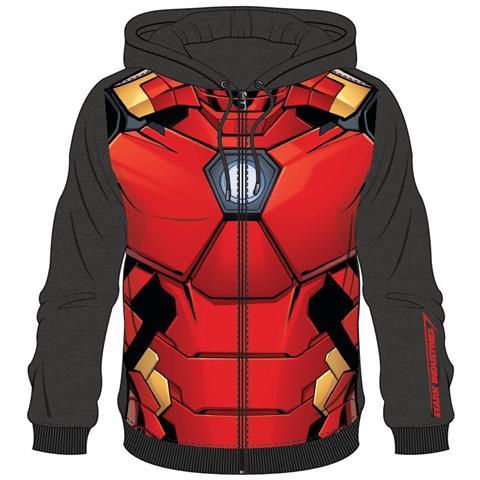 BIOWORLD Iron Man - Sublimated Black (Felpa Con Cappuccio Unisex Tg. L)