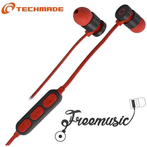 Techmade TM-FRMUSIC-RD Techmade Auricolari Bluetooth Red