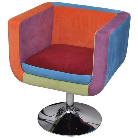 Image of Poltrona A Cubo Con Design Patchwork In Tessuto