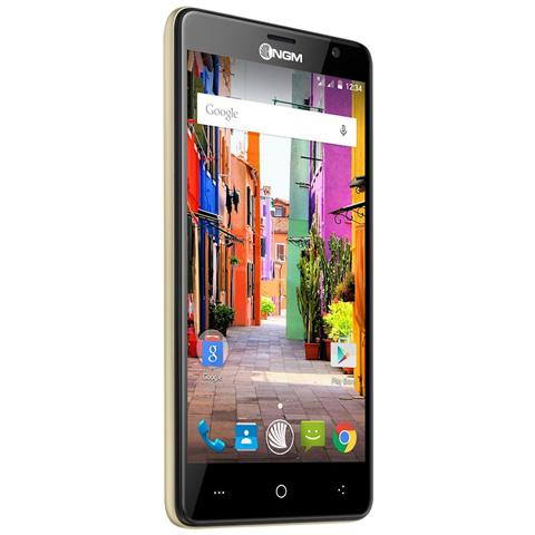 You Color P503 Oro Dual Sim Display 5'' HD Quad Core Ram 1GB Storage 8GB +Slot MicroSD WiFi 4G / LTE Doppia Fotocamera 13Mpx / 5Mpx Android 5.1 - Italia