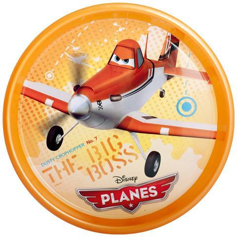 HOME Set 12 Piatti Plastica Planes Piano Cm22.5 Pappa Bimbi
