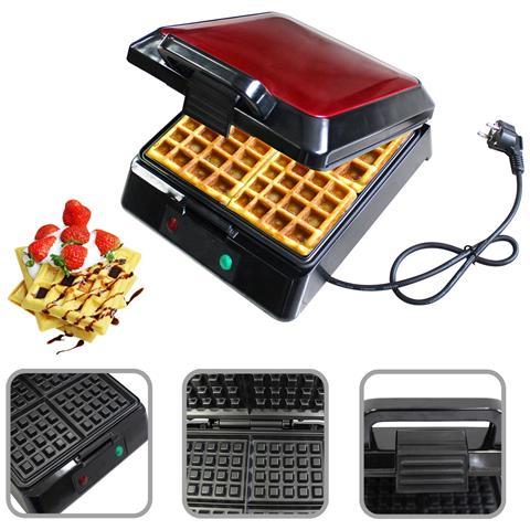 Macchina Per Waffle, Piastra Per Waffle, Rosso, Funzione: Puì Cucinare 4 Cialde Contemporaneamente
