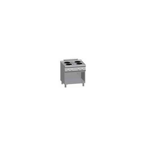 Cucina Piano Cottura Elettrico Pavimento 4 Piastre Cm 80x70x85 Rs3621